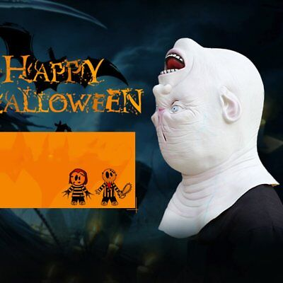 Latex Horror Inverted Head Mask Halloween Cosplay Props Hood Mask XP