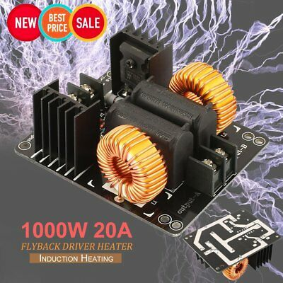 1000W 20A ZVS Low Voltage Induction Heating Coil Module Flyback Driver Heater ^Z