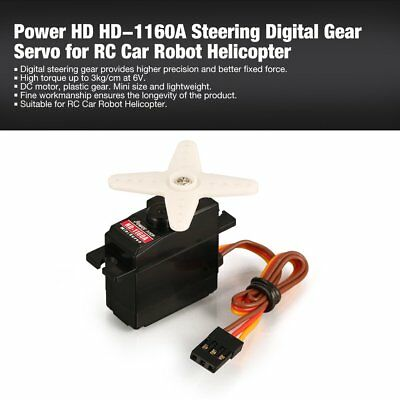 Power HD HD-1160A Steering Digital Gear Servo for RC Car Robot Helicopter kt