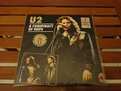 """U2 """"A Conspiracy Of Hope"""" - Lp Green Wax  - Live 06/06/1986 Los Angeles  176/200"""