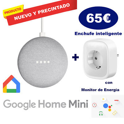 Google Home Mini tiza+Enchufe (PRECINTADO)