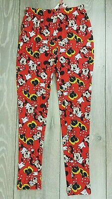 Official Disney Minnie Mouse Girls Jegging Leggings Junior RED 9-10 YRS  b222-7