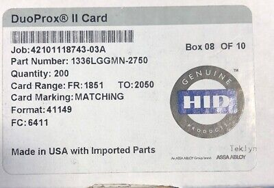 Genuine HID 1336LGGMN DuoProx II cards with Mag Stripe 43 Cards
