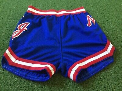 272ca4d6796 1981 New Jersey Nets Vintage Game Used Worn Rawlings Basketball Shorts  Brooklyn