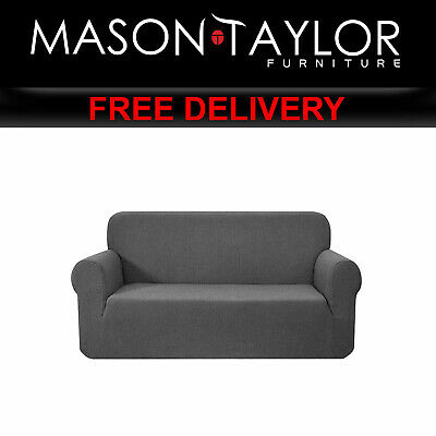 MT High Stretch Sofa Cover Couch Protector 3Seater Grey SCOVER-MERBAU-3-GY AU