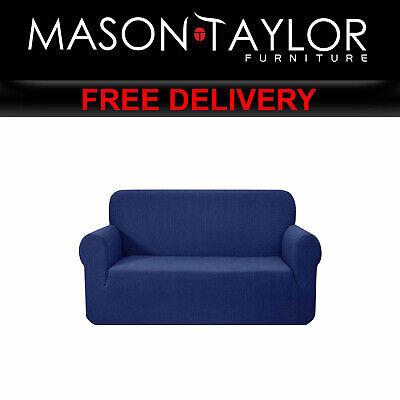 MT High Stretch Sofa Cover Couch Protector 2Seater Navy SCOVER-MERBAU-2-NY AU