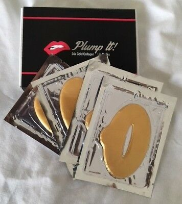 Plump It! Volumising 24k Gold Collagen Lip Masks