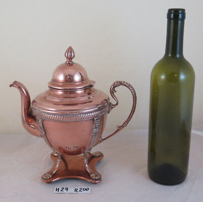 Antigua Tetera Cobre Danés Dinamarca Antigüedad Copper Samovar Coffee R200