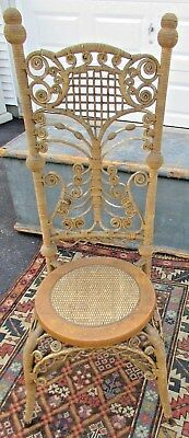 Antique Antique Reed Wicker Reception Chair  c.1890
