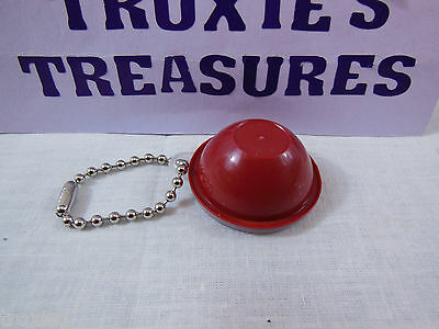 Vintage Tupperware Wonderlier Bowl Key Chain Dark Red  Rare New