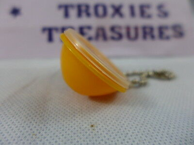 Vintage Tupperware Wonderlier Bowl Key Chain Yellow  Rare New