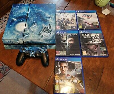 Ps4 slim 500 gb console +5 giochi ps4  italiano
