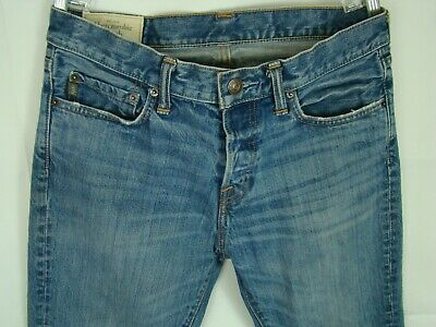 Abercrombie & Fitch Jeans Women's Size 8 Blue Sandblasted Straight Leg Denim