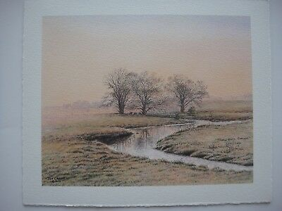 """Jon Crane Watercolors """"Tranquil Dawns"""" Sold Out Print Absolutely Beautiful New"""