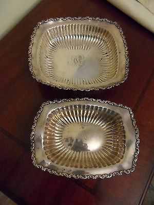 VINTAGE  STERLING SILVER CANDY DISH SET BY WHITING SILVER CO. 11.3 oz