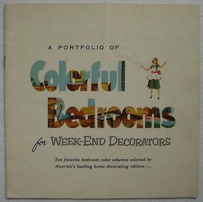 1950's-60's Colorful Bedrooms Decorators Collection Illustrated Catalog Brochure