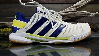 86e6311c187a6 ADIDAS BARRICADE MENS Sz 5 US Tennis White Blue Training Athletic ...