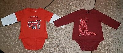 Baby Boy Top Shirt Bodysuit Lot of 2 Long Sleeve 12-18 month Baby Gap Childrens