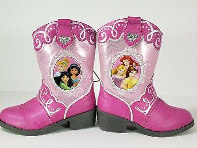 7ddd0e63816 DISNEY PRINCESS PINK Cow Girl Western Boots Toddler Size 13 with ...