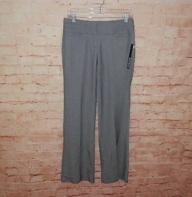 NEW XOXO Women's Size 3/4 Gray Stretch Pleated Career Dress Pants Slacks 2232