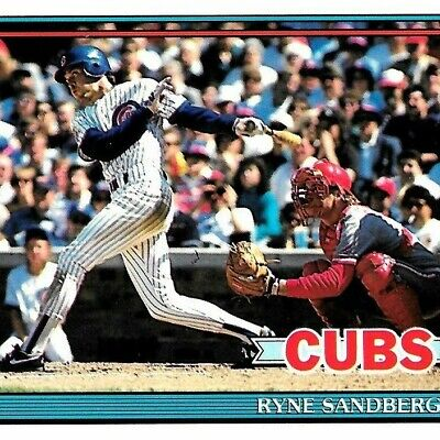 1991 Topps Tiffany #740 Ryne Sandberg LOOK 🔥 HOT 🔥 WOW 🔥 CLEAN 🔥 MUST-SEE 🔥