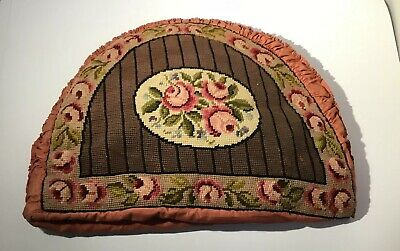 "Very Large Edwardian Tapestry Tea Cosy, Hand Made, 17"" X 12"" (43cm X 30cm)"