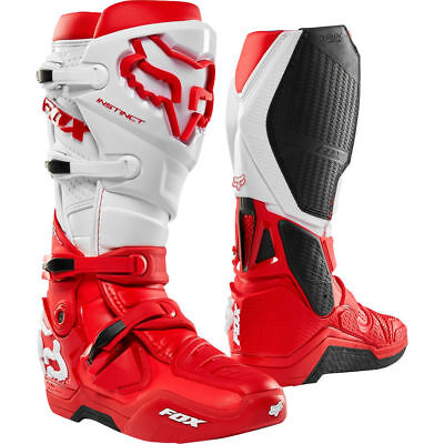 FOX INSTINCT 2019 BOOTS IN Red/White EX-DISPLAY UK9-US10 ONLY