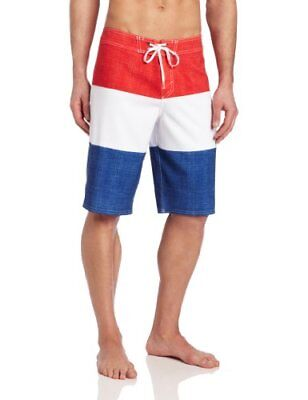 PBR Pabst Blue Ribbon Beer O'Neill Board Shorts Mens 31 32 Red White Blue Swim