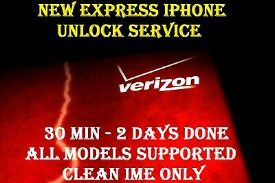 NEW AUTHENTIC VERIZON  IPHONE UNLOCK SERVICE IPHONE XS MAX X 8 7 7+ 5 5s 6 6s