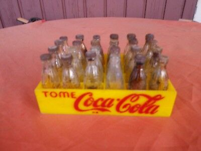 TOME COCA COLA  CAISSE 24 MIGNONNETTES / 24 BOTTLES MINI CASE PEROU  SPAIN 60's
