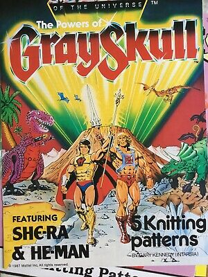 Vintage pattern; Gary Kennedy masters of the universe powers of grayskull