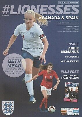 * 2019 - ENGLAND WOMEN v CANADA & v SPAIN (INTERNATIONAL - 5th/9th April 2019) *