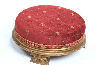 Antique Gilt-wood Foot Stool - FREE Shipping [PL5071]