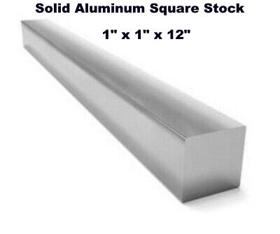 "Square Stock 6061 Aluminum Alloy 1"" x 1"" x 12""  Solid Square  1 ft. Long Bar"