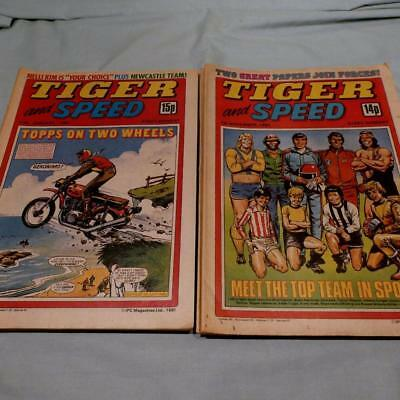 Job Lot IPC Magazines,  Tiger & Speed Comics 1980, 1981 - 15 Copies