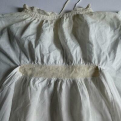 Vintage Victorian, Edwardian Off White Cotton Lace Gown, Christening Gown #1