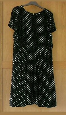 09c2025d77e2 Collection by John Lewis Black Spotted Lined Cap Sleeve Silk Dress Size 16