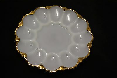Vintage  Egg Plate Retro Anchor Hocking Devilled 12 Egg Plate  1970's lot 5