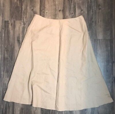 Clothing, Shoes & Accessories Amicable Ann Taylor Women`s Linen And Cotton Flare Skirt Size 12. Women's Clothing