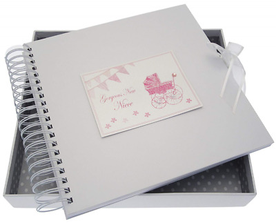 NEW SEALED BEAUTIFUL White Cotton Cards Gorgeous New Niece Card/Memory Book