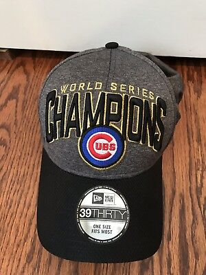 1f16dc0b82f CHICAGO CUBS NATIONAL League Champions World Series Hat 2016 Flex ...