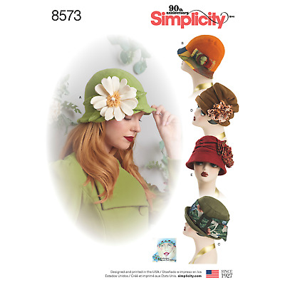 Simplicity Sewing Pattern 8573 Hats