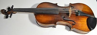 Antique Old Beautiful German Franz HELL 4/4 Violin 1920s Made in Germany