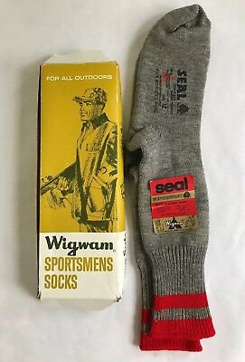 Vintage Wigwam Sportsmens Socks Worsted Wool With Box NOS New Old Stock