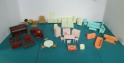 Vintage Marx Traditional Doll House Furniture Lot of 50+