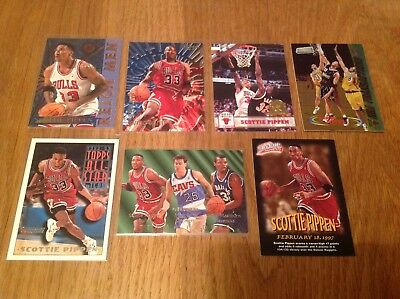 Job Lot Scottie Pippen Premium NBA Basketball Trading Cards