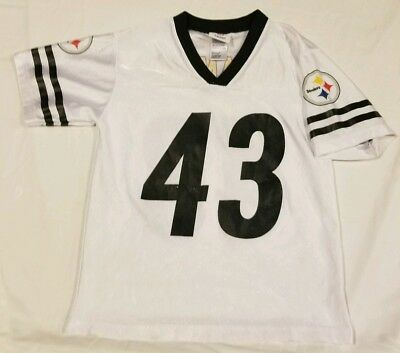 Cheap TROY POLAMALU #43 Pittsburgh Steelers White Jersey TODDLER 2T  for cheap