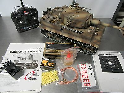 Imex Taigen German Tiger Tank (Metal Edition), RTR AirSoft 2.4 GHz 1/16  Tank