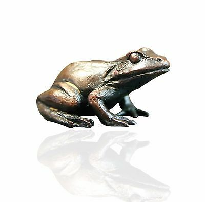 Bronze Sculpture - Baby Frog Sitting - Limited Edition. Keith Sherwin.