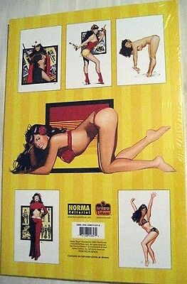 BETTIE PAGE PORTFOLIO  6 Prints & 6 Sketches JIM SILKE ~  SEXY Pin Up Girl Model